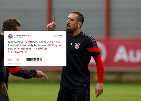 Bayern Munich troll West Brom over Marouane Fellaini tweet with hilarious Franck Ribery effort