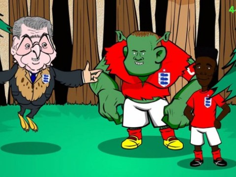 Wayne Rooney turned into ogre in comical cartoon parody of England's win over Estonia