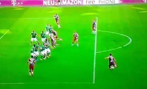 Xabi Alonso opens Bayern Munich goal account with beautifully cheeky under-the-wall free kick