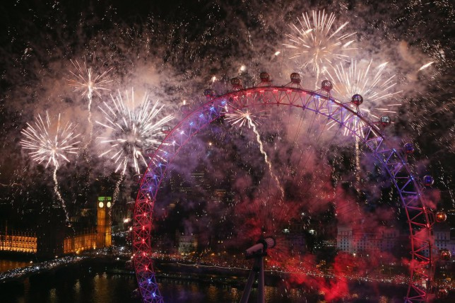 Londoners will be treated to a fireworks display at midnight (Picture: Oli Scarff/Getty Images)