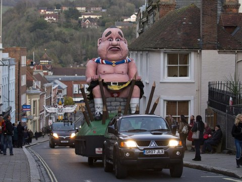 Bonfire night guy: Alex Salmond's effigy burning is a badge of honour