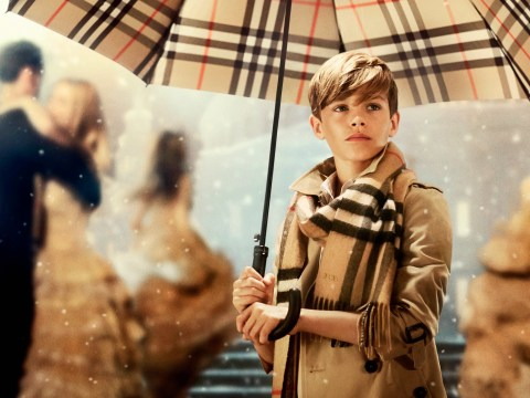Romeo Beckham plays cupid as the star of Burberry's 2014 Christmas campaign