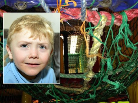 Toddler left hanging by his neck in climbing frame accident