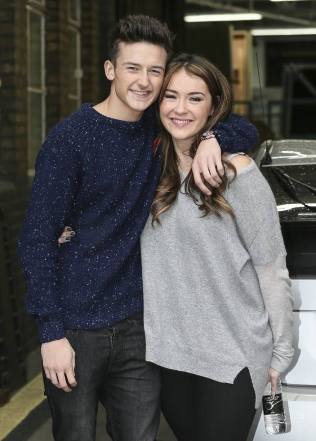 Mandatory Credit: Photo by REX (4231026m)  Jack Walton and Lola Saunders  Celebrities at the ITV studios, London, Britain - 03 Nov 2014