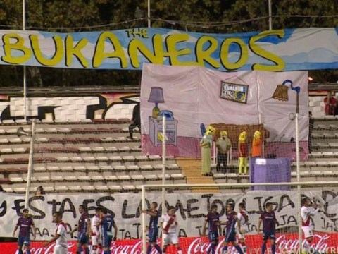 Rayo Vallecano fans stage brilliant Simpsons-themed protest against Monday-night football