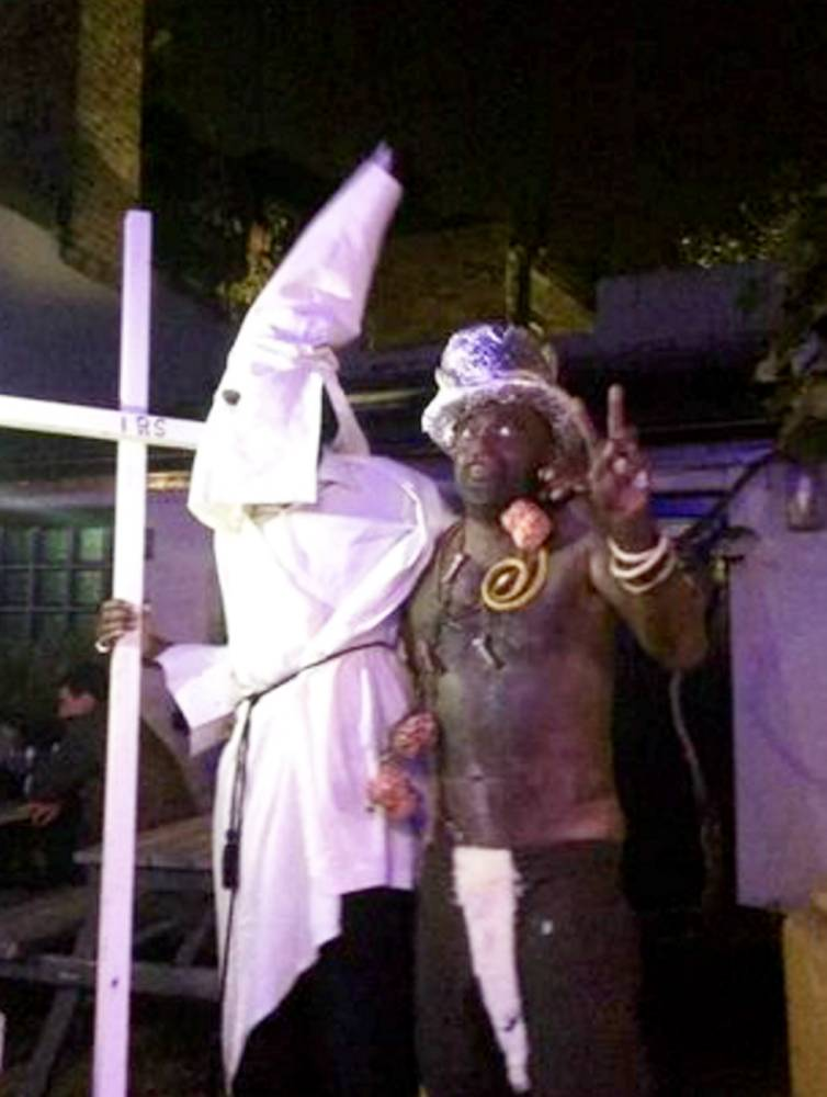Pub landlord 'blacks up' for party as employee goes in KKK costume