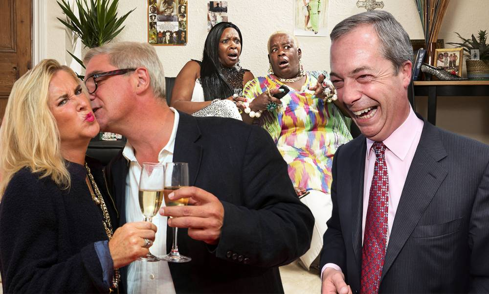 Boozy Googlebox spinoff with Steph and Dom is perfect for Nigel Farage