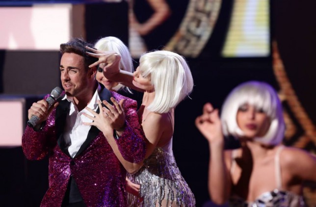*** MANDATORY BYLINE TO READ: Syco / Thames / Corbis ***<BR /> The X Factor contestants perform at the Saturday live show in London, this week's theme, Big Band Week. Credit: Dymond/Syco/Thames/Corbis <P> Pictured: Stevi Ritchie <B>Ref: SPL891211  151114  </B><BR /> Picture by: Syco / Thames / Corbis<BR /> </P>