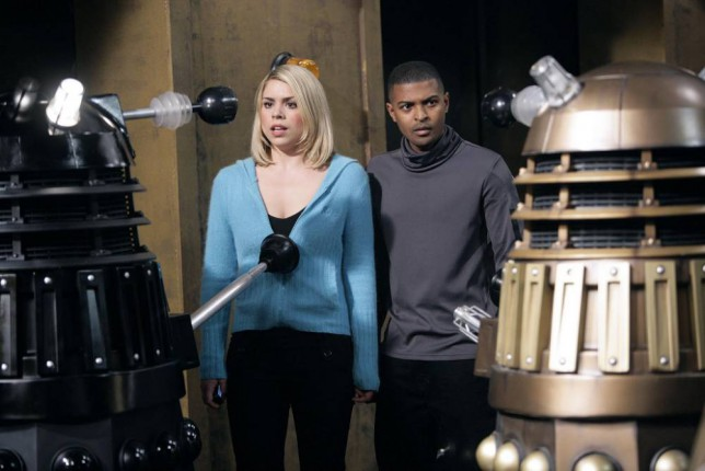 Television Programme 'Doctor Who'   final episode.  Undated handout picture provided by the BBC of Billie Piper, who plays Rose Tyler, and Noel Clarke, who plays Mickey Smith, in the final episode of Doctor Who to be broadcast on Saturday July 8, 2006 on BBC1. Picture issued Wednesday July 5, 2006, by the PRESS ASSOCIATION. Photo credit should read: BBC/PA.