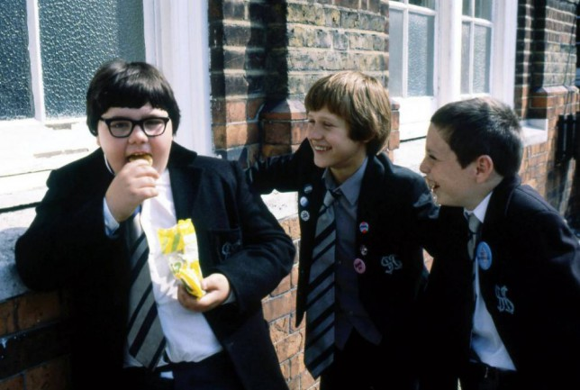 TELEVISION PROGRAMME... Grange Hill; Erkan Mustafa (left) pictured as Roland Browning, with Lee Sparke (centre) as Jonah Jones, and Lee MacDonald as Samuel 'Zammo' Maguire in a scene from series five of the BBC series.
