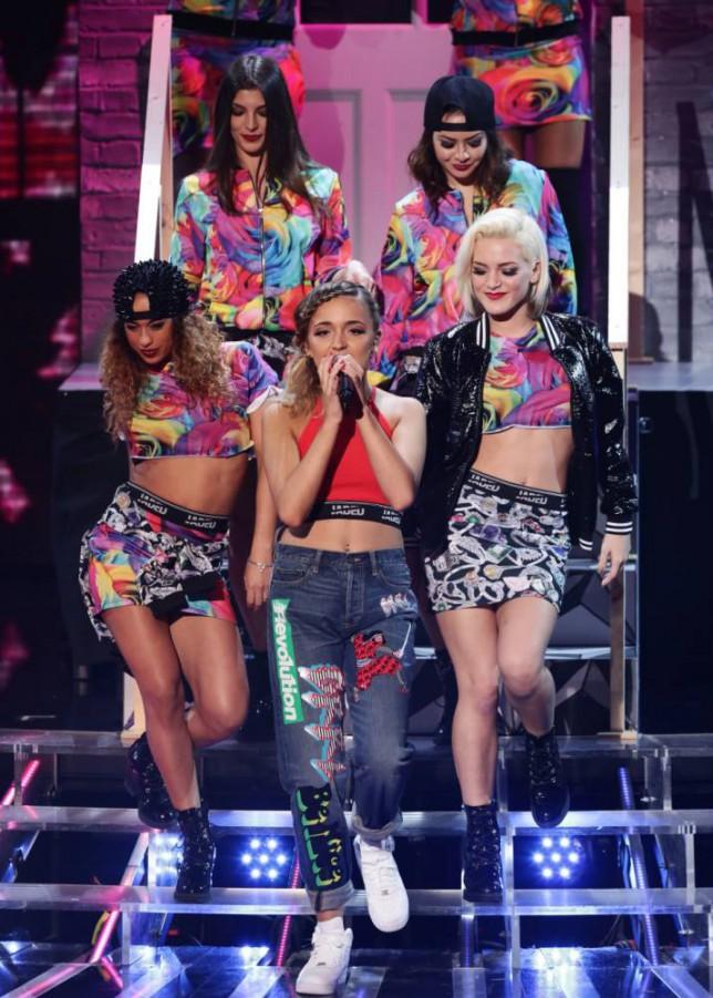 Lauren Platt The X Factor 2014 (Picture: ITV/Corbis)