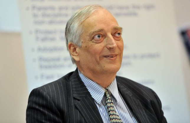 Lord Christopher Monckton is seen at the launch of Rise Up Australia Party's Victorian election campaign in Melbourne, Monday, Sept. 16, 2014. (AAP Image/Julian Smith)