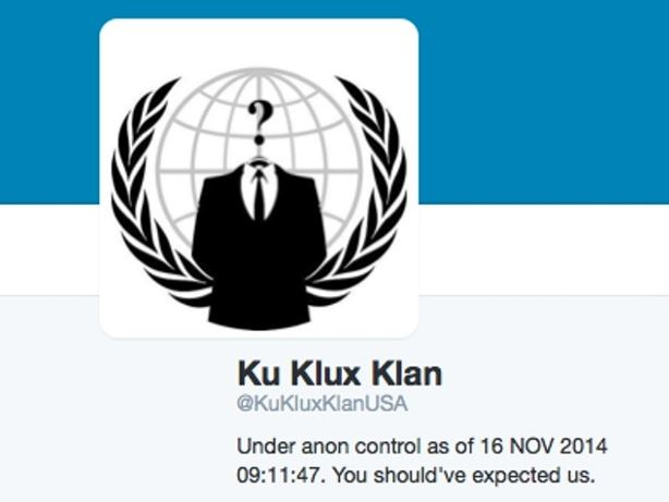 Anonymous hacks Klu Klux Klan Twitter account in response to taunts