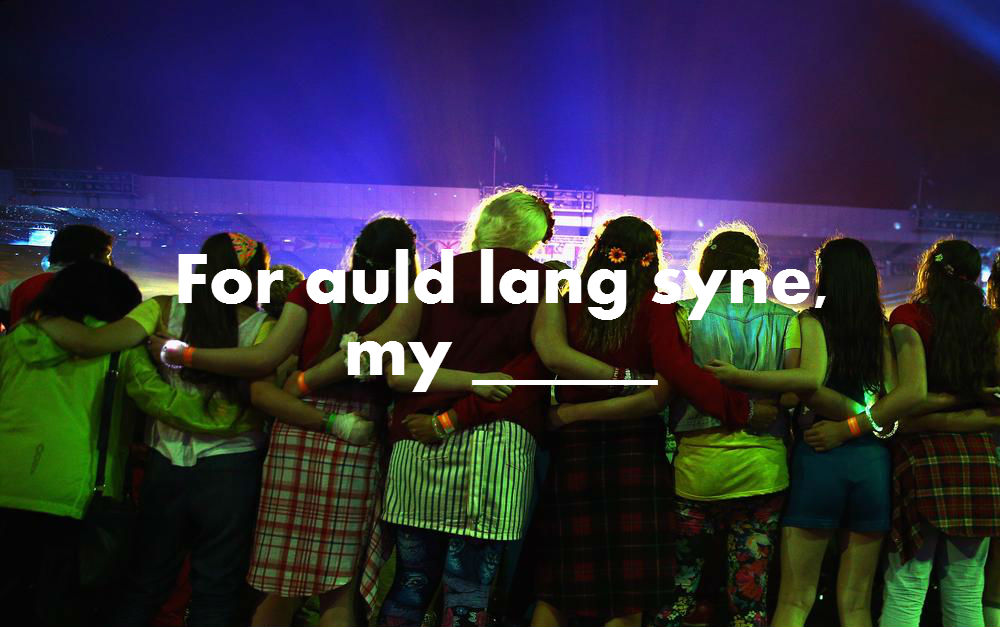 Do you know the lyrics to Auld Lang Syne? Yeah, but do you actually?
