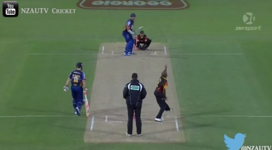 Six pointer was hit by Michael Bracewell (Picture: youtube)