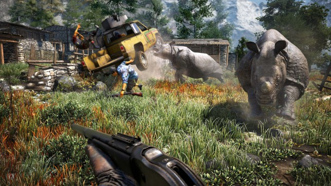Far Cry 4 (PS4) - who will save you from the rhino?