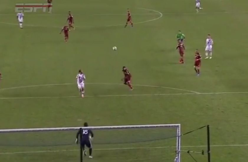 ESPN commentator uses FIFA terminology to describe Robbie Keane assist for Landon Donovan during LA Galaxy v Real Salt Lake