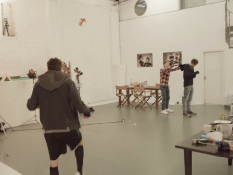 Liverpool midfielder Adam Lallana pulls off incredible trick-shot at Assassin's Creed: Unity photoshoot