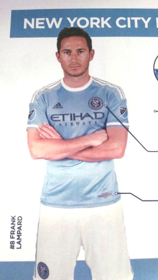 Frank Lampard models New York City's new kit