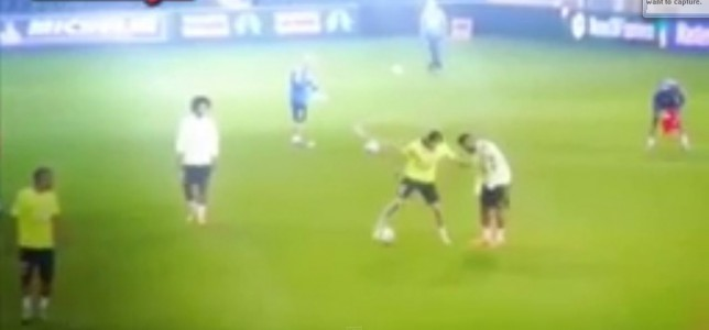 Watch Filipe Luis destroy Neymar with unbelievable tekkers during Brazil training session
