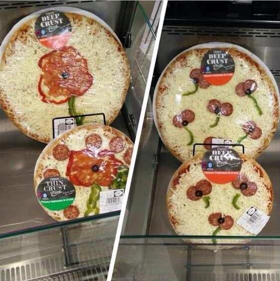 Tesco worker pays tribute to the fallen with deep-crust remembrance pizza