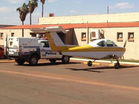 Man parks wingless plane outside Aussie pub to get a drink (Red Bull?)