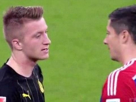 Marco Reus really didn't want to hug ex-teammate Robert Lewandowski after Borussia Dortmund loss