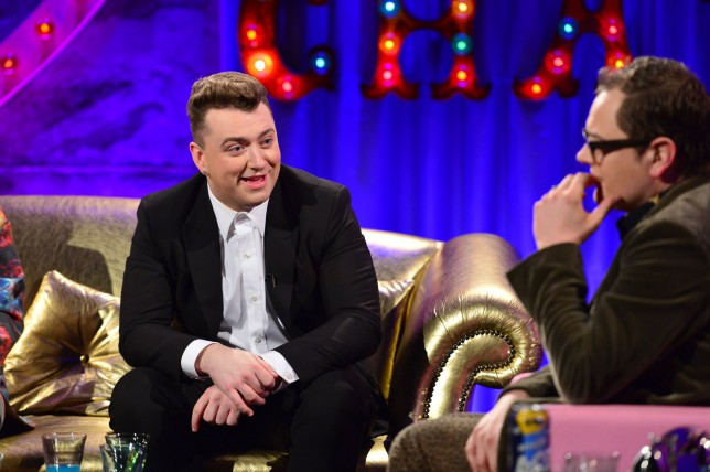 Sam Smith chatting on Alan Carr Chatty Man