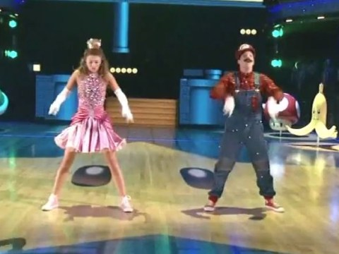 Dancers dress up as Mario and Peach to perform epic Super Mario Bros routine