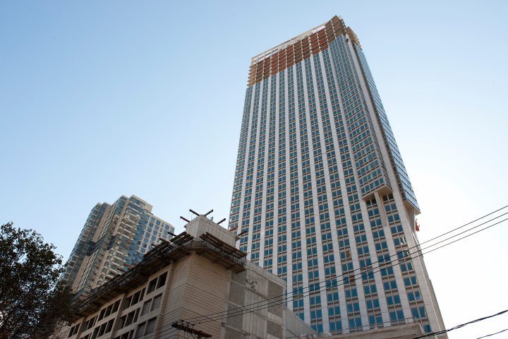 Man killed by tape measure dropped 50 floors from construction site