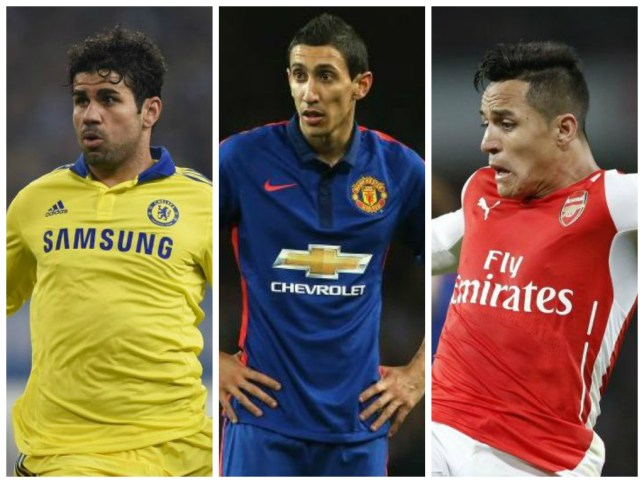 Team of the year candidates: Costa, Di Maria and Sanchez