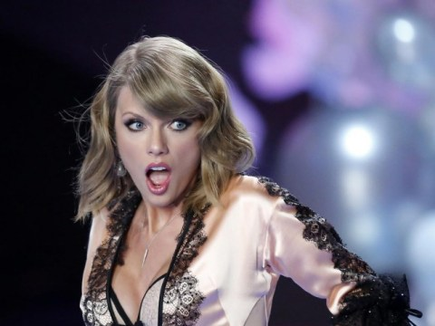 Just Taylor Swift performing in her underwear at Victoria's Secret show