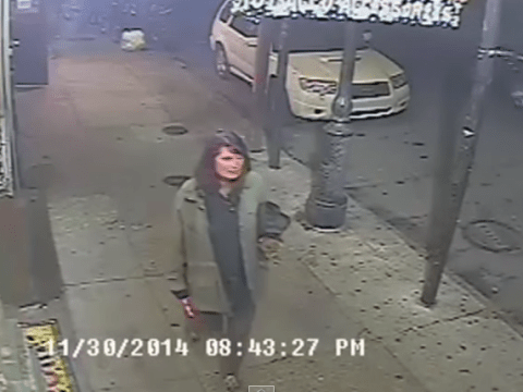 CCTV catches woman stabbing random strangers in the street
