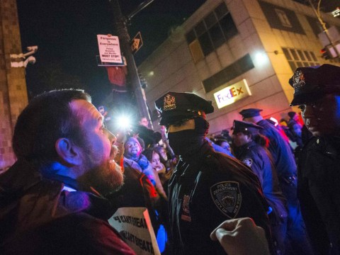 Protests erupt in New York City over chokehold death of unarmed black man