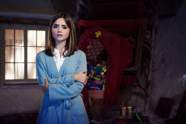 Jenna Coleman playing Clara Oswald in Last Christmas, written by Steven Moffat
