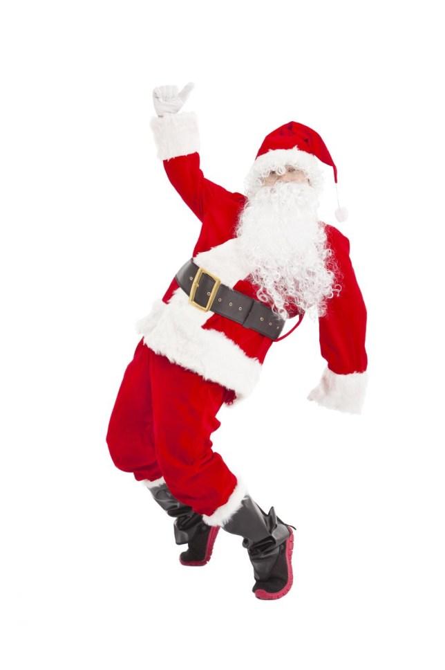 Happy Christmas Santa Claus dancing Tomwang112/Tomwang112