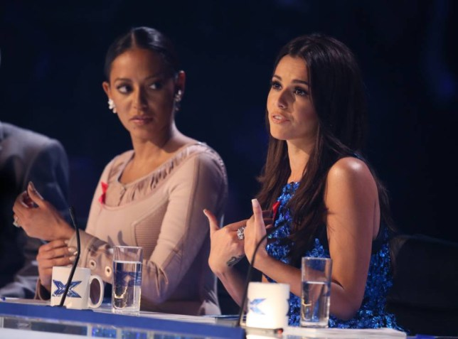 *** MANDATORY BYLINE TO READ: Syco / Thames / Corbis ***<BR /> The X Factor judges are seen at the X Factor live shows in London. Stereo Kicks are also seen receiving the results of the public vote. Credit: Jenkins/Syco/Thames/Corbis <P> Pictured: Stereo Kicks, X Factor judges <B>Ref: SPL901595  301114  </B><BR /> Picture by: Jenkins / Syco / Thames / Corbis<BR /> </P>