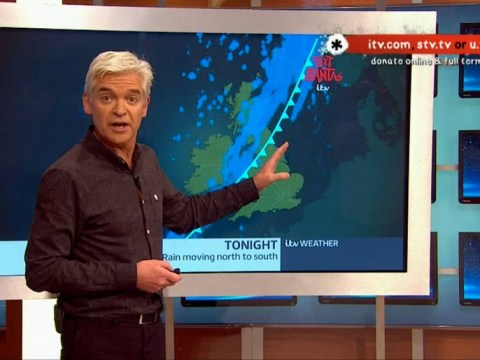 Phillip Schofield kicks off his Text Santa 24 hours on TV with a bang