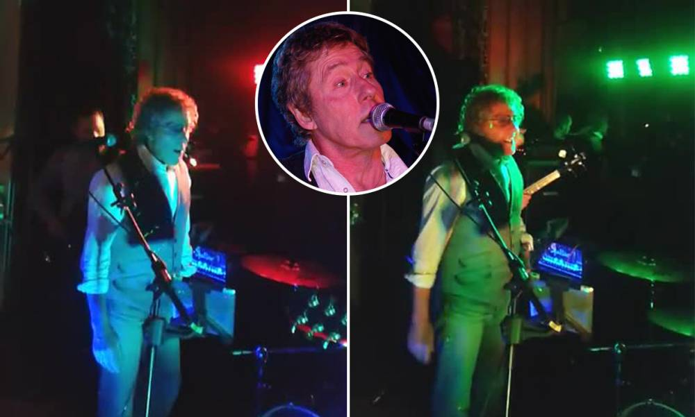 Roger Daltrey proves he is the best wedding crasher ever serenading bride and groom