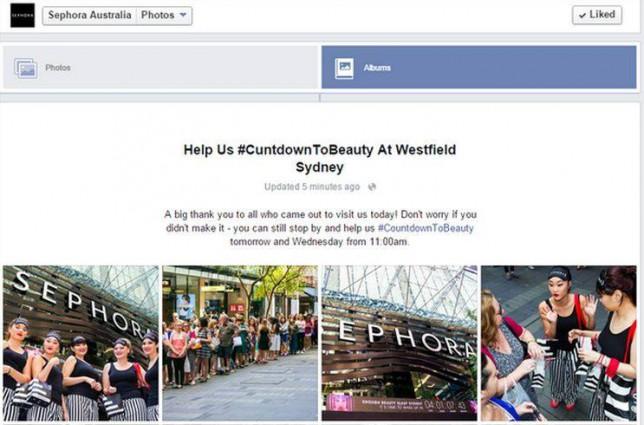 C***downToBeauty – Sephora Australia missed the 'o' in