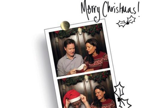 Nick Clegg just won the battle of the Christmas cards