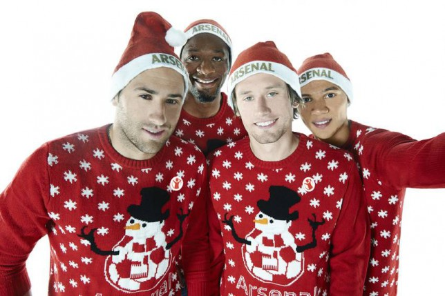 David Ospina, Abou Diaby, Tomas Rosicky and Kieran Gibbs are supporting The Arsenal Foundation s global partner, Save the Children's Christmas Jumper Day campaign on Friday 12th December to  make the world better with a sweater .     Join them and donate   2 to take part - find out more visit christmasjumperday.org     Arsenal will be selling Gunners  themed Christmas jumpers in aid of Save the Children available from the Club s flagship store, The Armoury and through Arsenaldirect.com