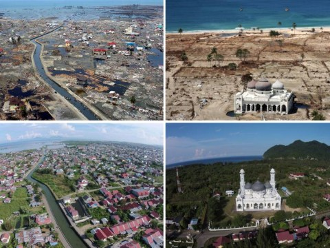Boxing Day tsunami: Incredible pictures show Indonesia transformed 10 years on