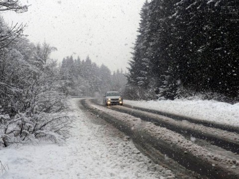 A white Christmas! 100 cars stuck in snow with two more inches to fall overnight