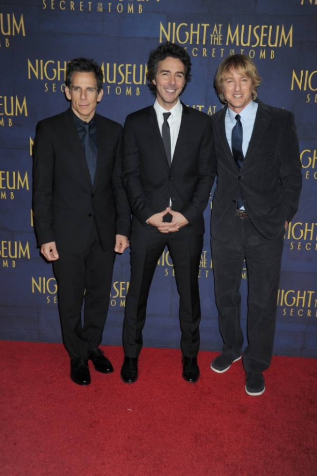 Stars attend the 'Night At The Museum: Secret Of The Tomb' New York premiere, held at Ziegfeld Theater on December 11, 2014 in New York City. <P> Pictured: Ben Stiller, Shawn Levy and Owen Wilson <P><B>Ref: SPL911344  121214  </B><BR /> Picture by: Splash News<BR /> </P> <P><B>Splash News and Pictures</B><BR /> Los Angeles: 310-821-2666<BR /> New York: 212-619-2666<BR /> London: 870-934-2666<BR /> photodesk@splashnews.com<BR /> </P>