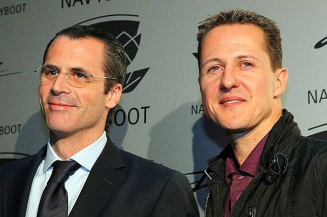 Philippe Gaydoul (left), owner of the fashion firms Navyboot and Jet Set, has publicly severed his commerical ties with Schumacher (right)