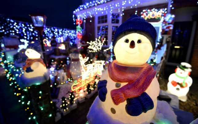 Christmas lights on display in New Milton, Hampshire (Picture: PA)