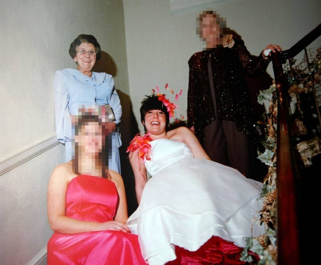 Collect picture shows 89 year old Ruth Gosley (wearing blue) & Katie Gosley shaw (wedding dress). Please see Ross Parry copy RPYSAVINGS A wicked grandaughter funded a luxury lifestyle of lavish hotel stays a flash car and new clothes  by stripping her grandmother of her ¨£140 000 savings a court heard. While mum of two Katie Gosley Shaw was living the life of dreams her poor gran 89 year old Ruth Gosley  was unable to pay her own heating bill and living in a home so cold that cops who turned up to interview her had to keep their coats on.