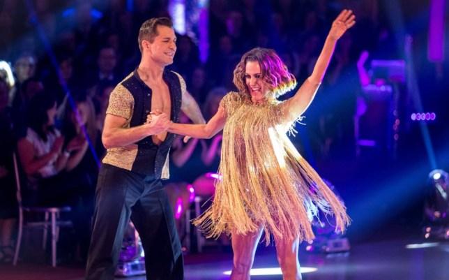 Caroline Flack and Pasha Kovalev on Strictly Come Dancing 2014