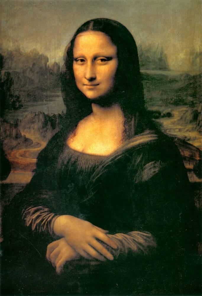 Portrait of Mona Lisa, painting by Leonardo da Vinci c. 1505-1507 (77x53cm), Louvre museum